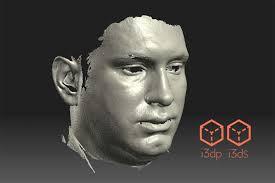 برای دریافت فایل سه بعدی اسکن شده صورت، اینجا کلیک کنید، دانلود از گوگل درایو، حجم ۵۱ مگابایت